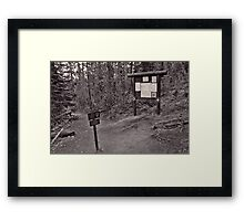 Entering Yellowstone Back-Country  Framed Print