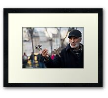 The Birdman of Notre Dame Framed Print