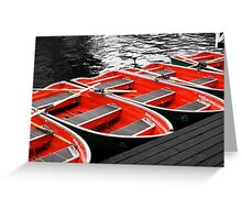 Little Red Rowing Boats Greeting Card