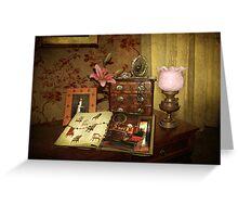 Victoriana Still life  Greeting Card