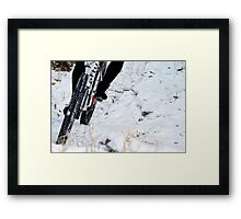 Trailing the Snow  Framed Print