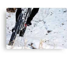 Trailing the Snow  Canvas Print