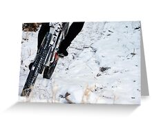 Trailing the Snow  Greeting Card