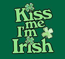 Kiss me I'm Irish shamrock green luck Womens Fitted T-Shirt