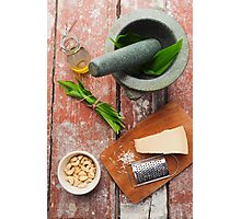 Wild garlic pesto Photographic Print