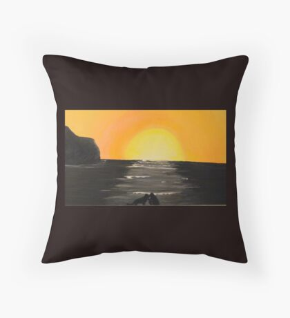 Tribute to Blue Throw Pillow