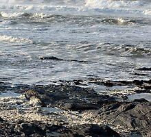 Stormy Sea, Newtrain Bay, Cornwall by Samantha Higgs