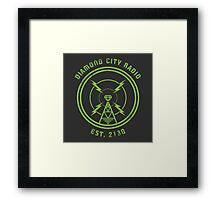 DIAMOND CITY RADIO Framed Print