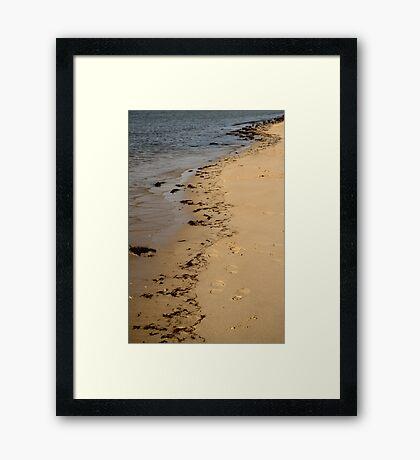 Tide Lines Framed Print