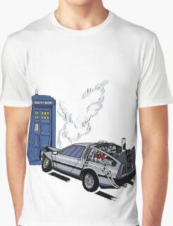 DeLorean vs Tardis [Drawing] Graphic T-Shirt