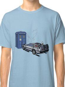 DeLorean vs Tardis [Drawing] Classic T-Shirt