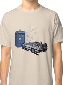 DeLorean vs Tardis [Drawing] Classic T-Shirt