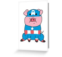 Captain Ameripig Waddles Greeting Card