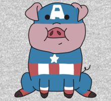 Captain Ameripig Waddles One Piece - Long Sleeve