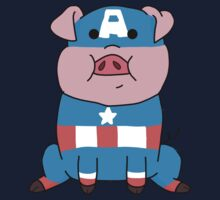 Captain Ameripig Waddles Kids Tee