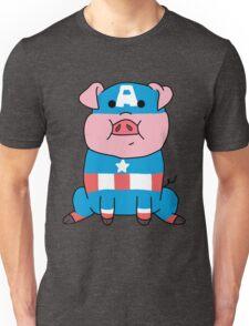Captain Ameripig Waddles Unisex T-Shirt