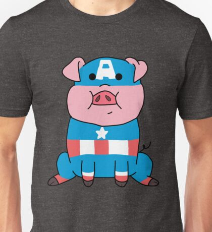 Captain Ameripig Waddles Unisex T-Shirt