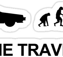 Time travel and evolution Sticker