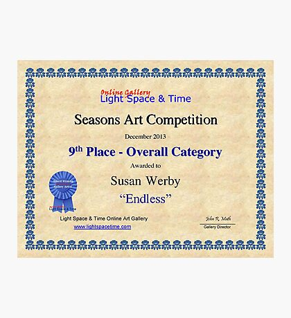 9th Place-Seasons Competiton-Endless Photographic Print