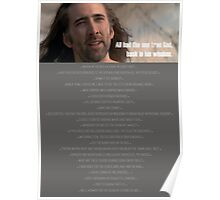 One True God, Nic Cage Poster