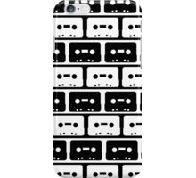 Cassettes Black iPhone Case/Skin