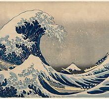 The Great Wave of Kanagawa - Katsushika Hokusai by elftail