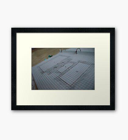 DnD Map 6 Framed Print