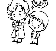 Sherlock and John - Brilliant - B&W by AdrienneKt