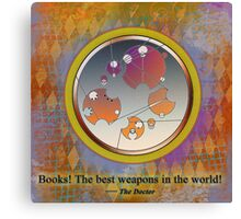 Dr Who Quote in Gallifreyan  Canvas Print