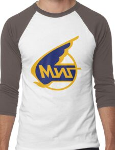 Mikoyan-Gurevich (Russian Aircraft Corporation MiG) Logo Men's Baseball ¾ T-Shirt