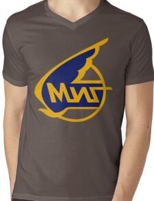 Mikoyan-Gurevich (Russian Aircraft Corporation MiG) Logo Mens V-Neck T-Shirt