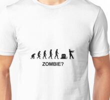 Evolution and Zombie Unisex T-Shirt