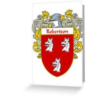 Robertson Coat of Arms / Robertson Family Crest Greeting Card