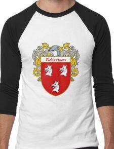 Robertson Coat of Arms / Robertson Family Crest Men's Baseball ¾ T-Shirt