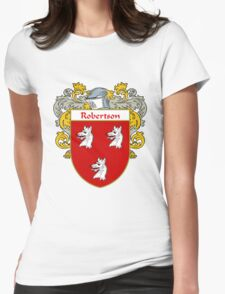 Robertson Coat of Arms / Robertson Family Crest Womens Fitted T-Shirt