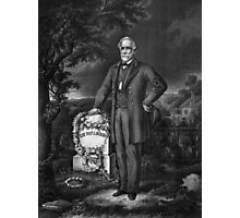 Lee Visits The Grave Of Stonewall Jackson Photographic Print