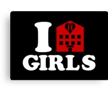 I Love Hotel Girls Canvas Print