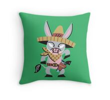 Cute Little Donkey Cowboy!!! Throw Pillow