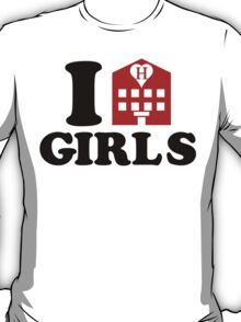 I Love Hotel Girls T-Shirt