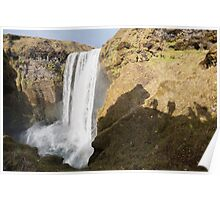 Skogafoss and Photographers Poster