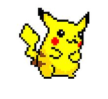 Pixel Pikachu Photographic Print