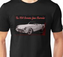 53 - 54 Corvette Three-Quarter Front Discussion Only Not For Dissemination Unisex T-Shirt