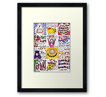 'LUNCHBOX DOODLES'  Framed Print