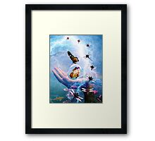 IN THE EYE OF THE STORM ~ TRANSFORMATION Framed Print