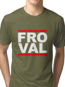 FRO VAL - White Design Tri-blend T-Shirt