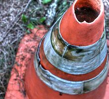 Abandoned Traffic Cone by jamieleigh543