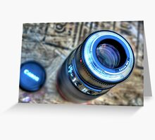 Camera Lens Greeting Card