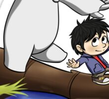 cute hiro and baymax as calvin and hobbes RC  Sticker
