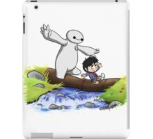 cute hiro and baymax as calvin and hobbes RC  iPad Case/Skin