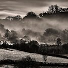 Chiselborough Mist Panorama by SWEEPER